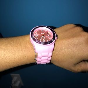 Light pink silicone Ice Watch- Used once!!